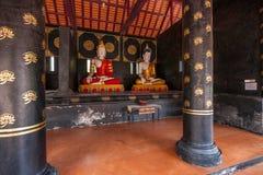 The ancient city of Chiang Mai, Thailand Wat Chedi Luang (Wat Chedi Luang) Piandian pagoda, Buddha Stock Images