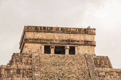 Ancient city of Chichen Itza on a rainy day, Yucatan, Mexico royalty free stock images