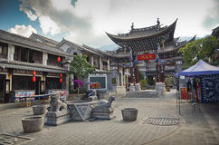 Ancient city of Dali, China. Temple inside the ancient city of Dali,Yunnan,China royalty free stock images