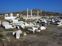 Ancient City Delos,near Mykonos,Greece Royalty Free Stock Photography