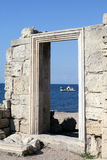Ancient city doorway. Ancient city wall of Creek colony Chersonesos, Sevastopol, Crimea, Ukraine Royalty Free Stock Image