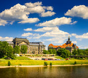 The ancient city of Dresden, Germany. Royalty Free Stock Photo