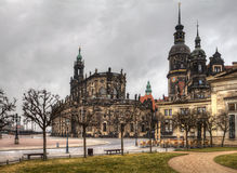 The ancient city of Dresden. Historical and Stock Photo