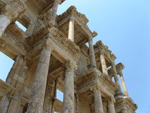 Ancient city Ephesus. The library of Celsus in ancient city Ephesus, Turkey Royalty Free Stock Photography