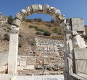The ancient city of Ephesus. Ruins of the ancient city Ephesus in Turkey history landmark Stock Photos