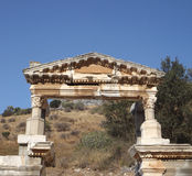 The ancient city of Ephesus. Ruins of the ancient city Ephesus in Turkey history landmark Stock Images