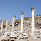 The ancient city of Ephesus. Ruins of the ancient city Ephesus in Turkey history landmark Stock Photography