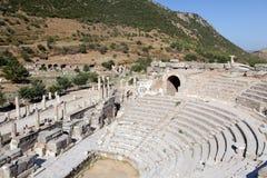 Ancient city of Ephesus. Theatre in the antique city of Ephesus, Turkey Royalty Free Stock Photo