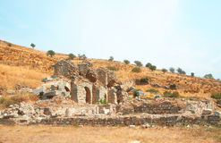 Ancient city of Ephesus, Turkey Royalty Free Stock Photos