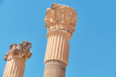 The ancient city of Ephesus. Unusual ruins in Turkey near the fa Royalty Free Stock Images