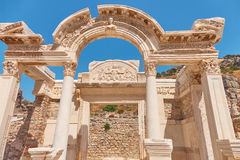 The ancient city of Ephesus. Unusual ruins in Turkey near the fa Royalty Free Stock Photos