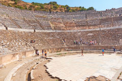 The ancient city of Ephesus. Unusual ruins in Turkey near the fa Stock Images
