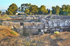 Ancient city at Eretria Euboea Greece Stock Photography