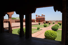 Ancient city of Fatehpur Sikri, India. The view from the walls of the 16th-century city of Fatehpur Sikri, built by Akbar the Great Stock Image