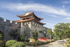 Ancient city gate of Dali old town area ,Yunnan  China. Ancient city gate of Dali old town area ,Dali ,Yunnan Province, China Stock Photography