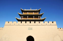Ancient city gate tower Royalty Free Stock Photo