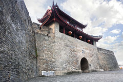Ancient city gate tower Royalty Free Stock Images