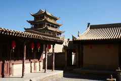 Ancient city gate tower in jiayu pass Stock Photography