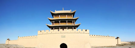 Ancient city gate tower in jiayu pass Royalty Free Stock Photos