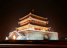 Ancient city gate tower in xi'an of china Stock Photography
