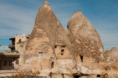 Ancient city of Goreme in Turkey Royalty Free Stock Photos