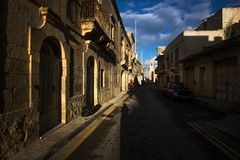 The ancient city of Gozo. Malta. Walking around a small town on the island of Gozo early in the morning. Malta Royalty Free Stock Photo