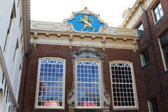 Ancient City Hall in Leeuwarden, Holland. The historical town of Leeuwarden is located in the north of Holland, in the province of Friesland. In 1715-1724 the Stock Photo