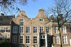 Ancient city hall, Tiel, Netherlands. Netherlands, Gelderland Province city Tiel: The front of the old Ambtmanshuis. This historic building is built in the Stock Photo