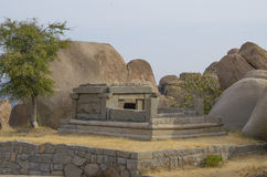 The ancient city of Hampi architecture ruins in India Stock Image