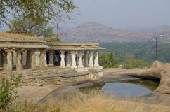 The ancient city of Hampi architecture ruins in India Stock Images