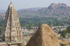The ancient city of Hampi architecture ruins in India Stock Photos
