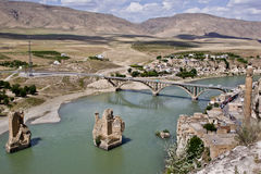 Ancient city, Hasankeyf. Historical city Hasankeyf view, In danger to be under water in the near future Royalty Free Stock Image