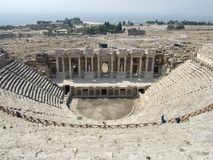 Ancient city of Hierapolis. Hierapolis was an ancient city located on hot springs in classical Phrygia in southwestern Hierapolis was an ancient city located on Royalty Free Stock Photography