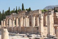 Ancient city of Hierapolis. Pamukkale, Turkey royalty free stock image