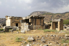 Ancient city of Hierapolis. Pamukkale, Turkey royalty free stock photo