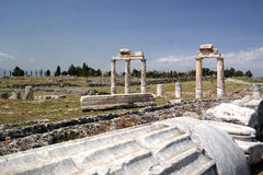 The ancient city of Hierapolis. Ruins of the ancient city of Hierapolis Stock Images