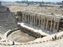 Ancient city of Hierapolis. Hierapolis was an ancient city located on hot springs in classical Phrygia in southwestern Stock Photo