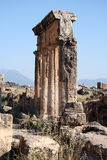 Ancient city of Hierapolis. Hierapolis was an ancient city located on hot springs in classical Phrygia in southwestern Anatolia. Its ruins are adjacent to modern royalty free stock photo