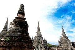 Ancient city in historic national park in Ayutthaya province. Of Thailand royalty free stock photography