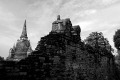 Ancient city in historic national park in Ayutthaya province. Of Thailand royalty free stock photo