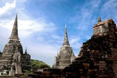 Ancient city in historic national park in Ayutthaya province. Of Thailand royalty free stock image