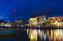 Ancient city of Hoi An. Twilight in the ancient city of Hoi An, Vietnam Royalty Free Stock Photos