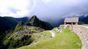 Ancient city of Inca Machu Picchu civilization in the land of Peru