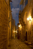 The ancient city of Jaffa at night, Tel Aviv Stock Image