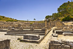 Ancient city of Kameiros on the island of Rhodes. Stock Image