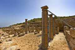 Ancient city of Kamiros on the island of Rhodes. Stock Images