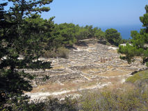 Ancient city of kamiros at Rhodes Stock Photography