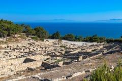 Kamiros, Rhodes. Ancient City of Kamiros, Rhodes, Greece Royalty Free Stock Images