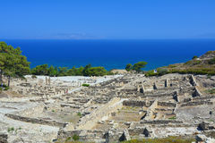 Ancient city Kamiros on Rhodes island stock photos
