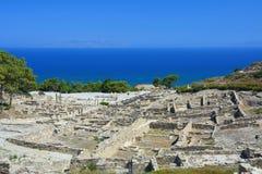 Ancient city Kamiros on Rhodes island stock photos